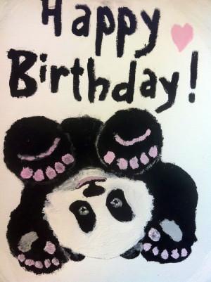 Happy Birthday Panda