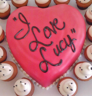 Love Lucy Cake and Cupcakes