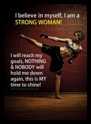 Women Kickboxing Quotes Woman kickboxing