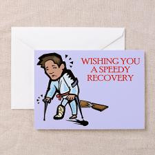 Speedy Recovery Card, Martial Arts (Pk of 10) for