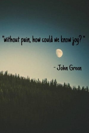 John Green - Without pain, how could we know joy?