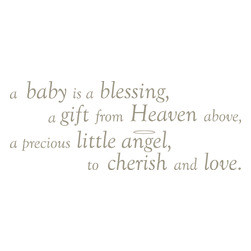 WallPops - Baby is a Blessing - Wall Wishes Wall Decals - A Baby is a ...