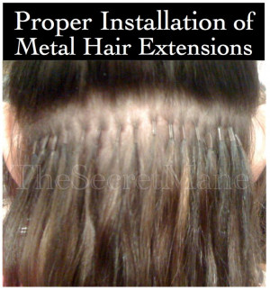 Proper Installation of Hair Extensions Attached Using Metal
