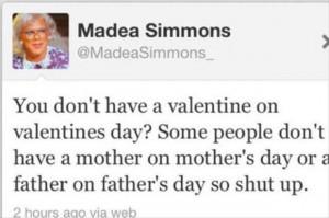 Madea Simmons Valentine's Tweet