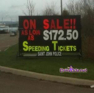 Speeding Tickets Sale Now Heckle