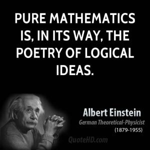 Albert Einstein Math Quotes