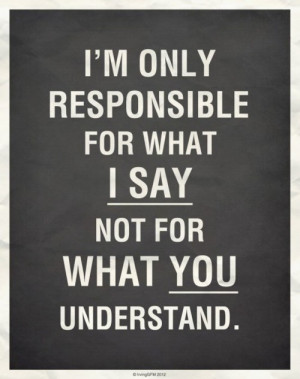 An inspirational picture quote about responsibility for things that ...