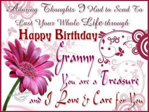 Grandmother Birthday Wishes In Birthday Wishes for Grandmot
