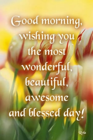 good morning have a blessed day everyone