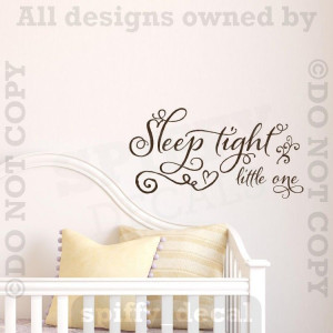 ... Tight Little One Baby Child Nursery Removable Wall Decal Sticker Quote