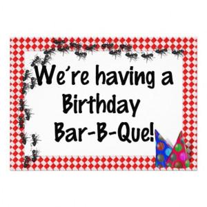 Summer Birthday BBQ Invitation