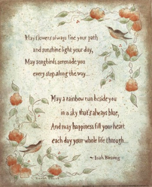 inspirational, inspirational quotes, quotations, may flowers line your ...