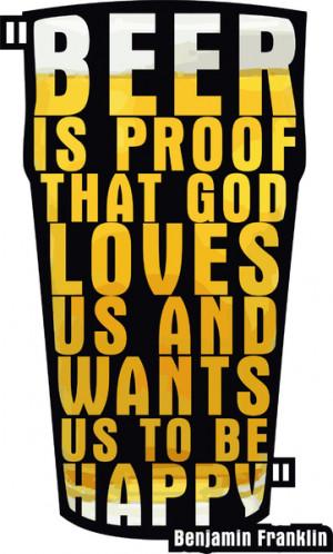 Franklin Beer Quote