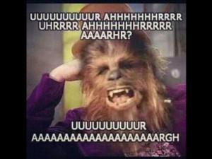 LOL funny star wars nerd Chewbacca geek