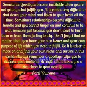Incredible Goodbye 2013 Quotes Sometimes Goodbye Become Inevitable ...