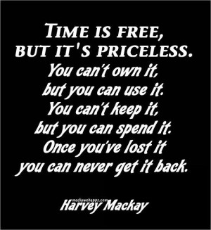 Harvey Mackay quote on the significance of 'time'
