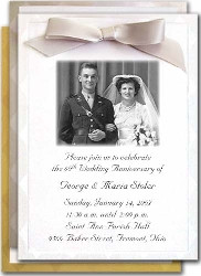 Custom 60th Anniversary Invitations