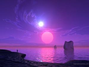 Purple purple sunset