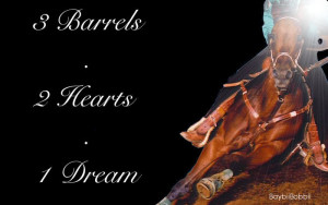 barrel racing Image