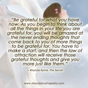Always be grateful!