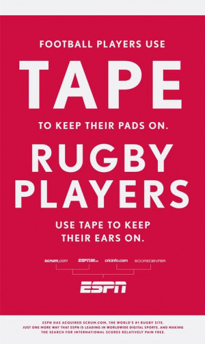 Rugby vs. football | quotes & posters: wordsy
