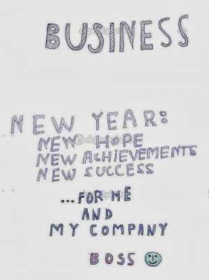 The Lovely Happy New Year Cards From The Boss, It Is Very Closed With ...
