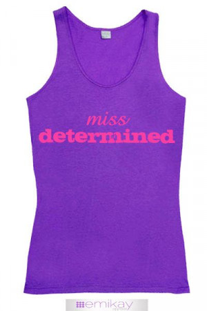 Fitness Tank Miss Determined Purple. Workout tank top. Exercise shirt ...