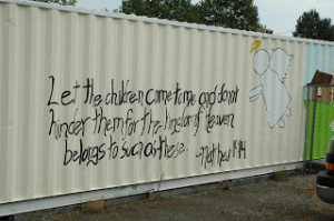This is the bible verse that we wrote on the mural!