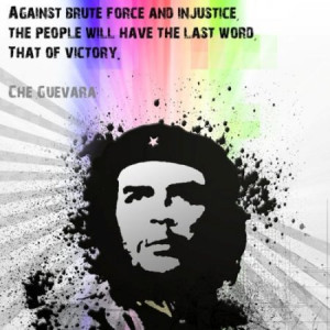Against brute force and injustice, the people will have the last word ...