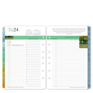 35506 Classic Leadership Ring-bound Daily Planner Refill - Jan 2010