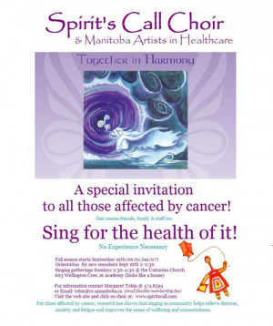 Spirit's Call Choir & Manitoba Artists in Healthcare - Together in ...