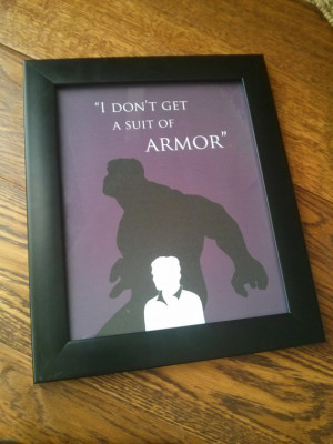 Avengers-inspired Hulk, Bruce Banner silhouette and quote print, 8