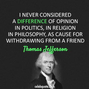 , religion)Thoughts, Difference, Quotes Religion, Thomas Jefferson ...