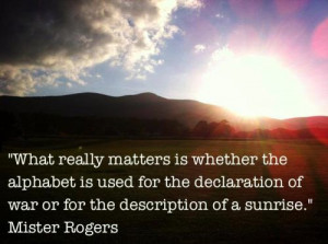 What really matters is whether the alphabet is used for the ...