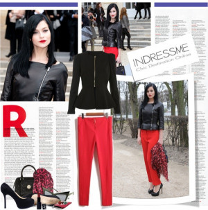 Get the Look : Leigh Lezark's red pants