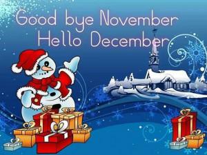 Good bye November..Hello December :)