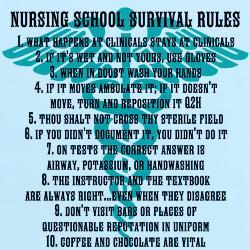 nursing_school_survival_rules_blue_and_black_tshi.jpg?color=LightBlue ...