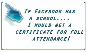 If facebook was a school quote