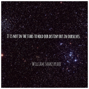 ... in our stars, inspirational, quote, stars and william shakespeare