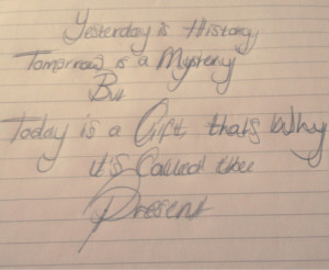 alice morse earle # quotes # today is a gift # yesterday is history ...
