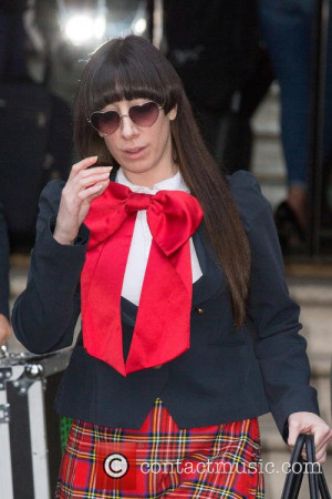Lady Starlight and Colleen Martin - Lady Starlight leaving the Langham ...
