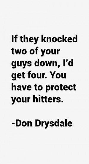 Don Drysdale Quotes amp Sayings