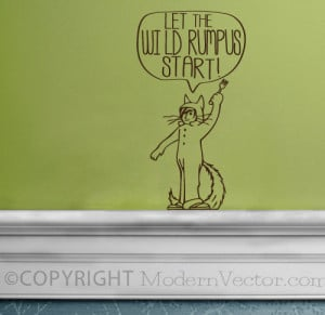 Wild Things Are Quote Vinyl Wall Decal Sticker Lettering Let the Wild ...