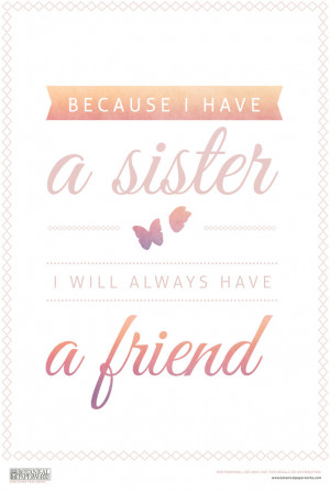 free printable} Sister Quote + 5 Tips For Celebrating Sister's Day on ...