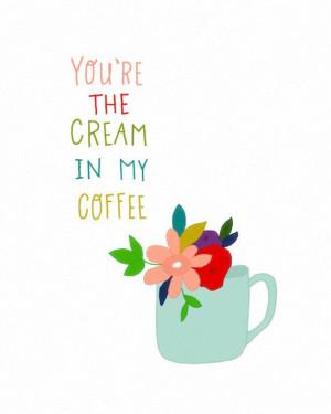 inspirational art print with quote coffee kitchen art by dazeychic, $ ...