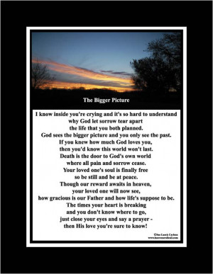 Loss Of A Loved One Poems Christian poems on the death