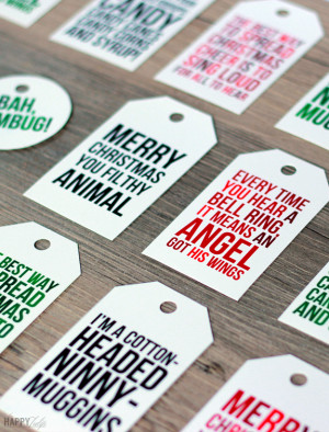 Funny Christmas movie quotes on these fun printable Christmas tags ...