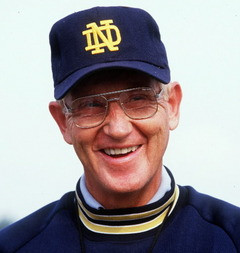 File Photo East Liverpool, Ohio, product Lou Holtz coached Notre Dame ...
