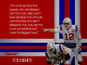 Tom Brady Quote Away Throwback Background by FBGNEP