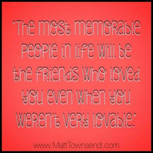 Most memorable...